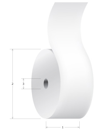 how to measure a roll